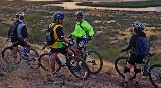 Ciclismo en Bahía San Carlos