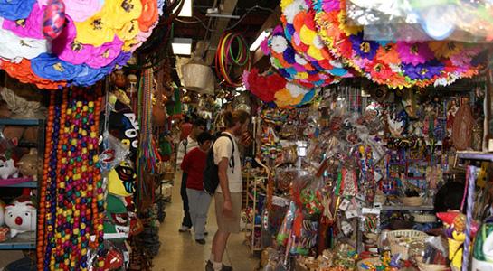Mercado de antojitos mexicanos