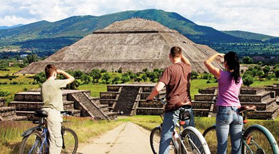 Paseo en bici Teotihuacán